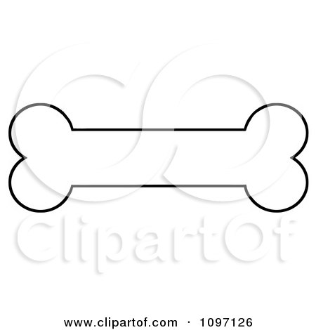 Coloring Sheets On Clipart Black And White Outlined Dog Bone Biscuit Royalty Free