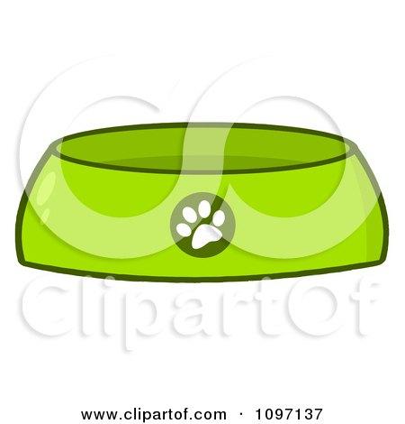 green dog bowl food dish with a paw print posters  art Dog Paw Heart Clip Art Dog Bone Clip Art