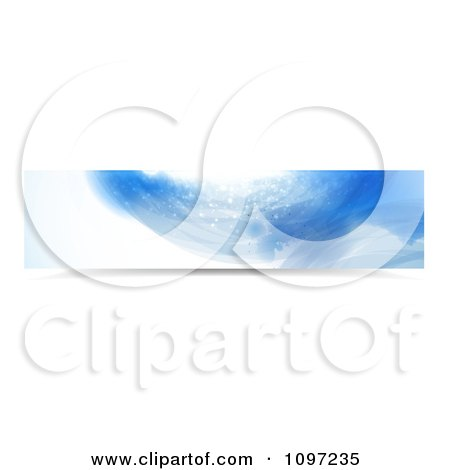 Clipart Blue Water Splash Banner 1 - Royalty Free Vector Illustration by MilsiArt