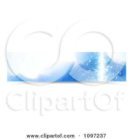 Clipart Blue Water Splash Banner 3 - Royalty Free Vector Illustration by MilsiArt