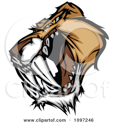 Royalty-Free (RF) Saber Toothed Cat Clipart, Illustrations, Vector ...