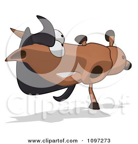 Clipart Charlie Horse Cartoon Doing A Cartwheel - Royalty Free CGI Illustration by Julos