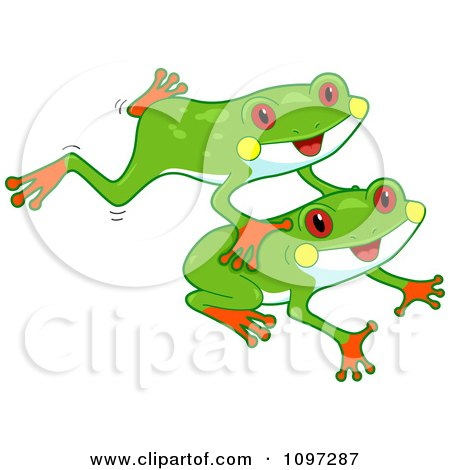 Clipart of Retro Vintage Boys Playing Leap Frog - Royalty Free ...
