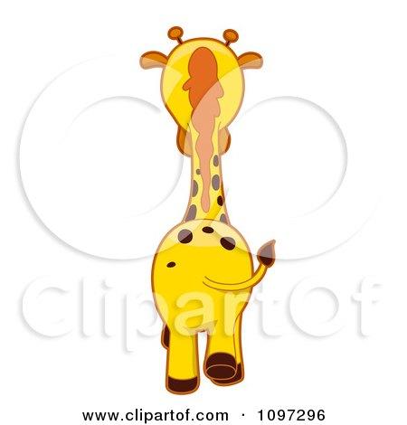 Clipart Giraffe Walking Away - Royalty Free Vector Illustration by BNP Design Studio