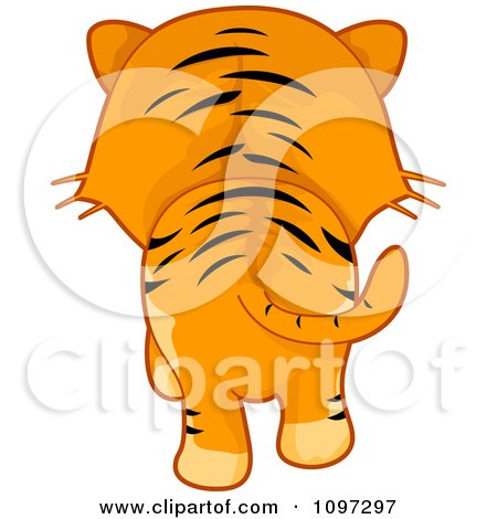Clipart Tiger Walking Away - Royalty Free Vector Illustration by BNP Design Studio