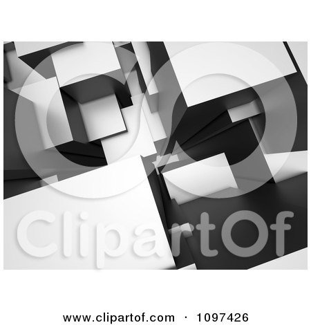 Clipart 3d Gray Abstract Architectural Urban Background - Royalty Free CGI Illustration by chrisroll