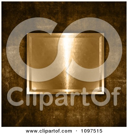 Clipart 3d Gold Plaque On Grungy Concrete - Royalty Free CGI Illustration by KJ Pargeter