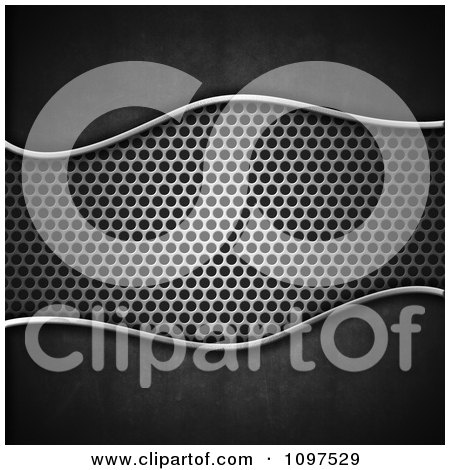 Clipart 3d Dark Concrete Background And Perforated Metal In The Center - Royalty Free CGI Illustration by KJ Pargeter