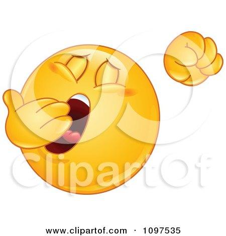 Clipart Sleepy Emoticon Yawning And Stretching - Royalty Free Vector Illustration by yayayoyo