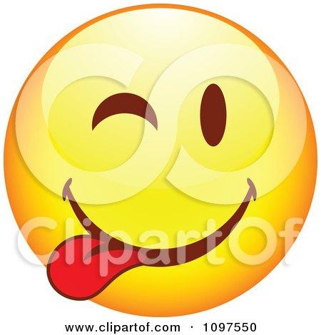 Clipart Yellow Goofy Cartoon Smiley Emoticon Face 9 - Royalty Free Vector Illustration by beboy