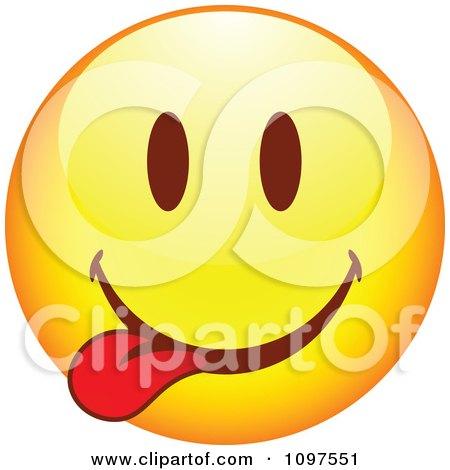 Clipart Yellow Goofy Cartoon Smiley Emoticon Face 8 - Royalty Free Vector Illustration by beboy