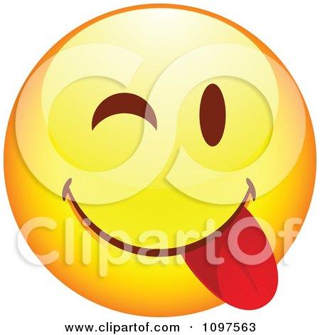 Clipart Yellow Goofy Cartoon Smiley Emoticon Face 7 - Royalty Free Vector Illustration by beboy