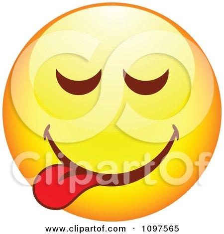 Clipart Yellow Goofy Cartoon Smiley Emoticon Face 3 - Royalty Free Vector Illustration by beboy