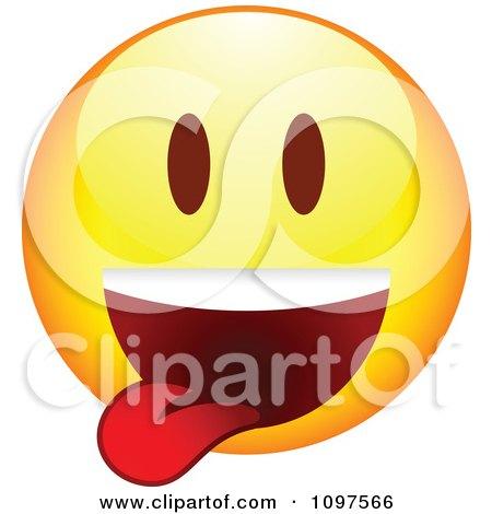 Clipart Yellow Goofy Cartoon Smiley Emoticon Face 4 - Royalty Free Vector Illustration by beboy
