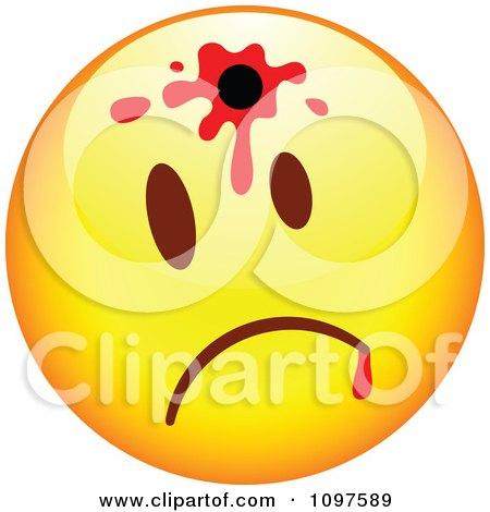 Clipart Shot Yellow Cartoon Smiley Emoticon Face 1 - Royalty Free Vector Illustration by beboy