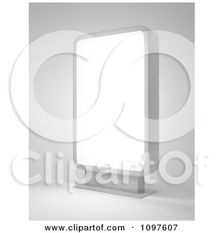 Clipart 3d Illuminated Display - Royalty Free CGI Illustration by Mopic