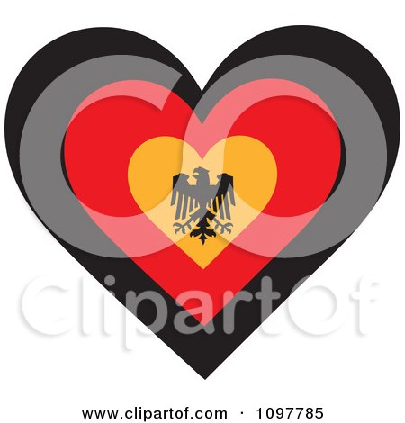 Clipart Patriotic Flag Heart With A German Design - Royalty Free Vector Illustration by Maria Bell