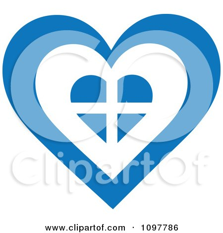 Clipart Patriotic Flag Heart With A Greek Design - Royalty Free Vector Illustration by Maria Bell