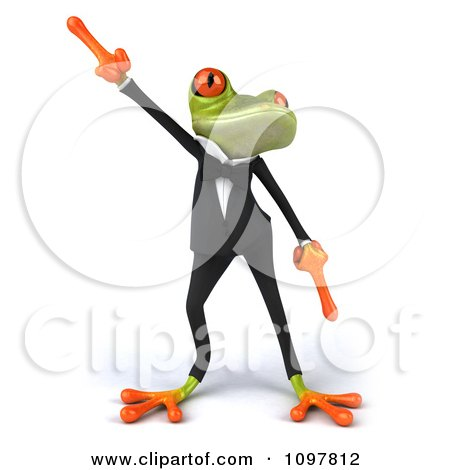Clipart 3d Business Springer Frog Doing A Happy Dance 1 - Royalty Free CGI Illustration by Julos