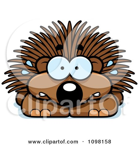 Clipart Scared Porcupine - Royalty Free Vector Illustration by Cory Thoman