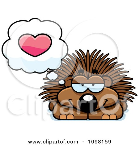 Clipart Porcupine In Love - Royalty Free Vector Illustration by Cory Thoman
