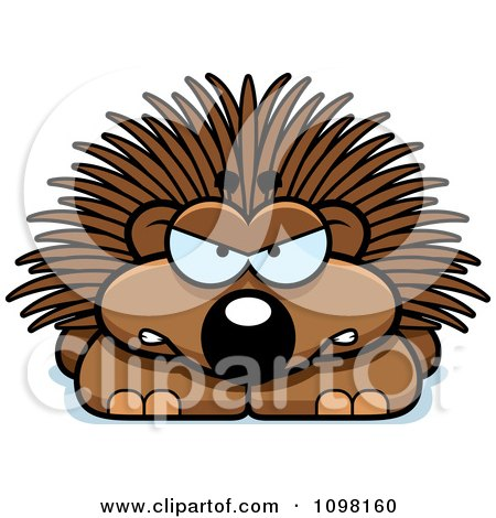 Clipart Angry Porcupine - Royalty Free Vector Illustration by Cory Thoman