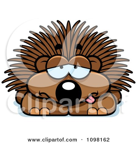 Clipart Sick Porcupine - Royalty Free Vector Illustration by Cory Thoman