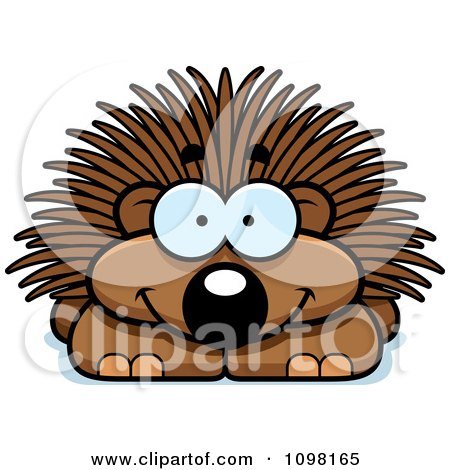 Clipart Happy Porcupine - Royalty Free Vector Illustration by Cory Thoman
