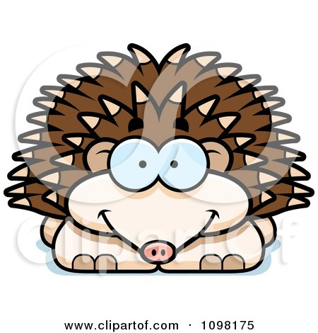Clipart Happy Hedgehog - Royalty Free Vector Illustration by Cory Thoman