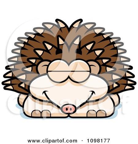 Clipart Sleeping Hedgehog - Royalty Free Vector Illustration by Cory Thoman