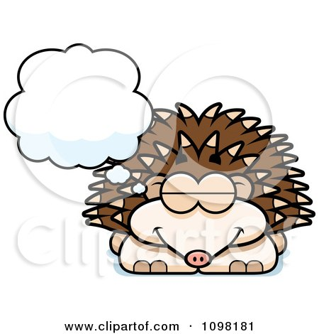 Clipart Dreaming Hedgehog - Royalty Free Vector Illustration by Cory Thoman
