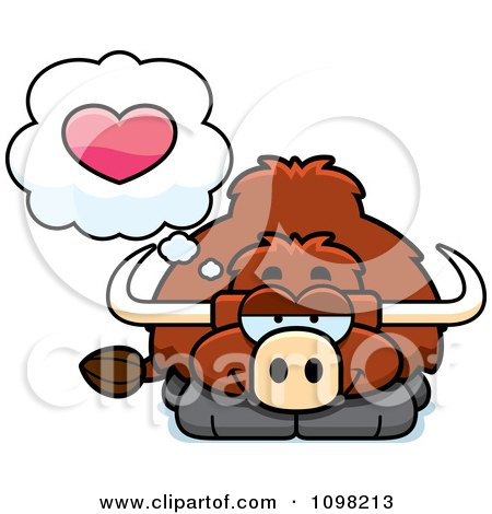 Clipart Yak In Love - Royalty Free Vector Illustration by Cory Thoman
