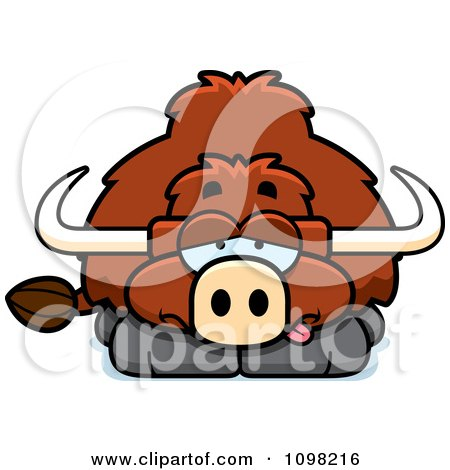 Clipart Sick Yak - Royalty Free Vector Illustration by Cory Thoman