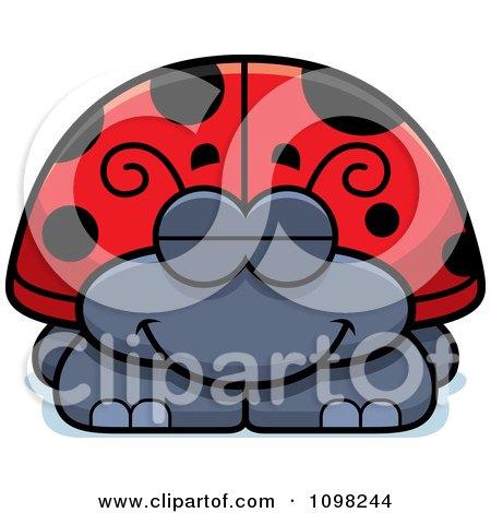 Clipart Sleeping Ladybug - Royalty Free Vector Illustration by Cory Thoman