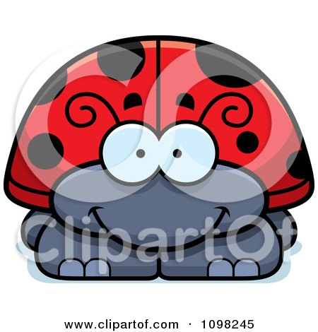 Clipart Happy Ladybug - Royalty Free Vector Illustration by Cory Thoman