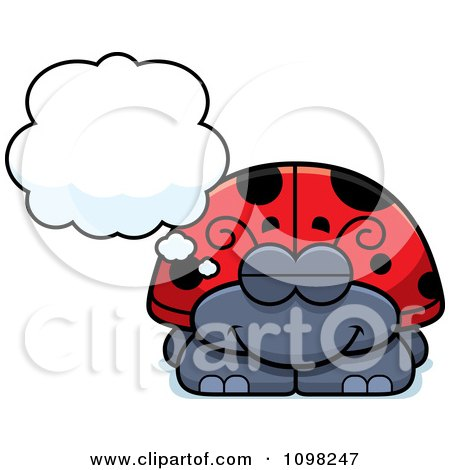 Clipart Dreaming Ladybug - Royalty Free Vector Illustration by Cory Thoman