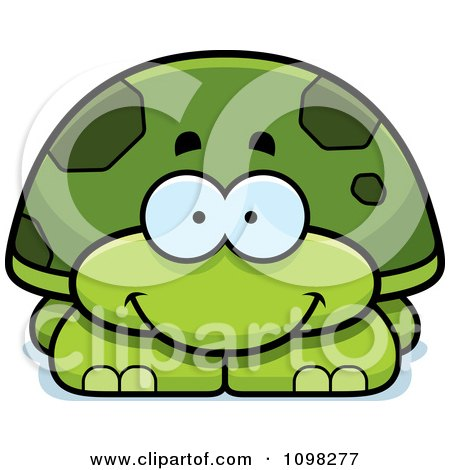Clipart Happy Green Tortoise Turtle - Royalty Free Vector Illustration by Cory Thoman