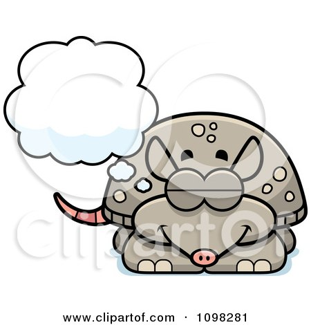 Clipart Dreaming Armadillo - Royalty Free Vector Illustration by Cory Thoman