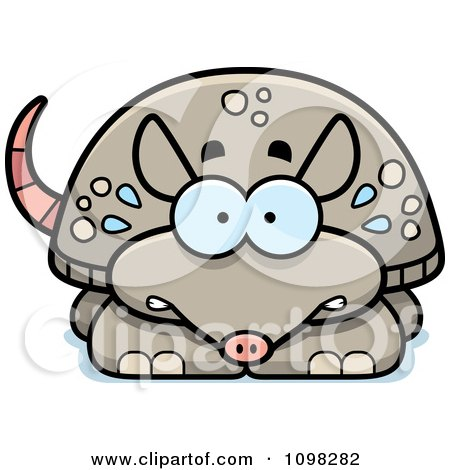 Clipart Scared Armadillo - Royalty Free Vector Illustration by Cory Thoman