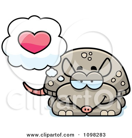 Clipart Armadillo In Love - Royalty Free Vector Illustration by Cory Thoman