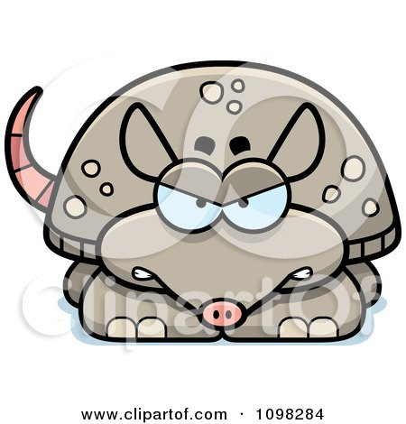Clipart Angry Armadillo - Royalty Free Vector Illustration by Cory Thoman