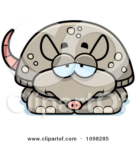Clipart Depressed Armadillo - Royalty Free Vector Illustration by Cory Thoman