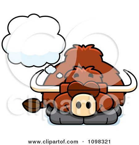 Clipart Dreaming Yak - Royalty Free Vector Illustration by Cory Thoman