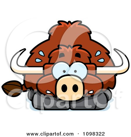 Clipart Scared Yak - Royalty Free Vector Illustration by Cory Thoman