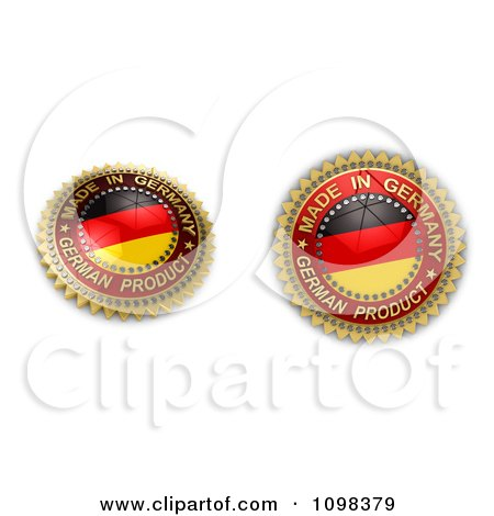 Clipart 3d Made In Germany Seals With The Flag - Royalty Free CGI Illustration by stockillustrations