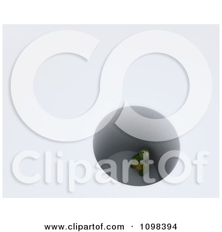 Clipart 3d Tortoise Stuck In A Deep Hole - Royalty Free CGI Illustration by KJ Pargeter