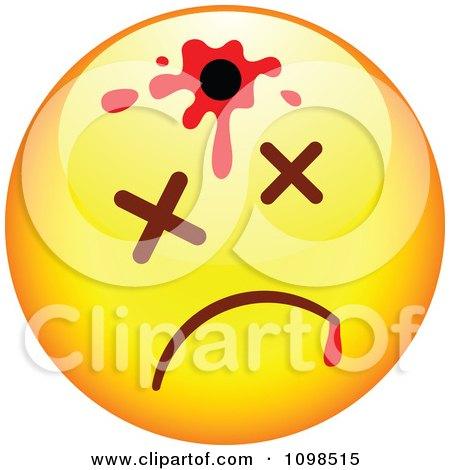 Clipart Shot Yellow Cartoon Smiley Emoticon Face 2 - Royalty Free Vector Illustration by beboy