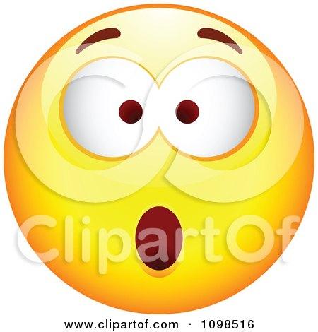 Clipart Surprised Yellow Cartoon Smiley Emoticon Face 6 - Royalty Free Vector Illustration by beboy