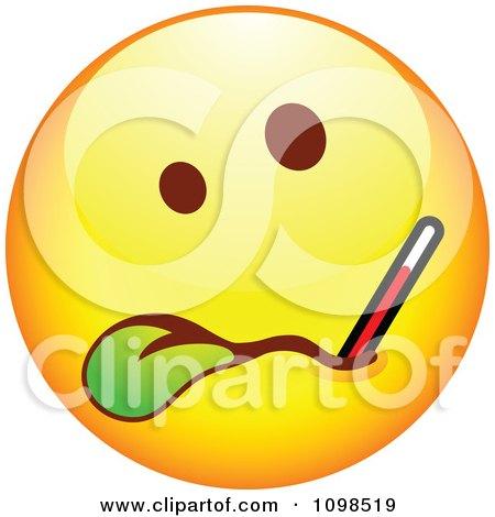 Sick smiley face