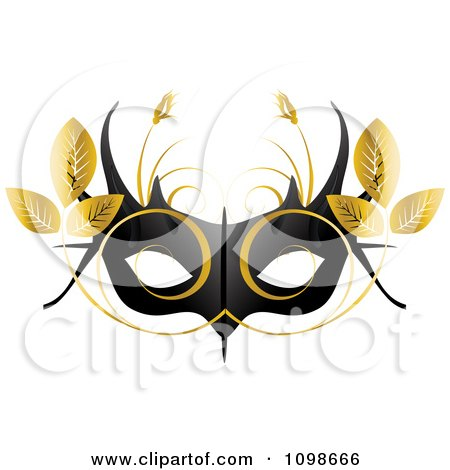 festive orange gold dress mask royalty free stock photo